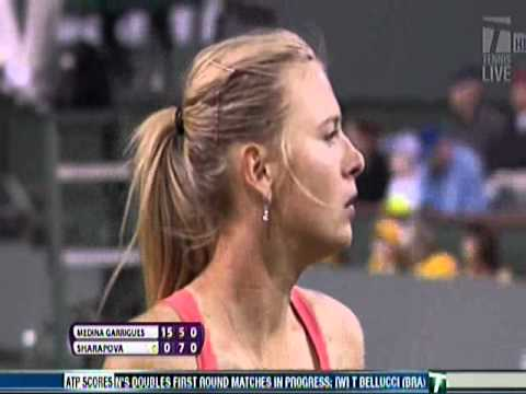 Sharapova's comical serve - Indian Wells