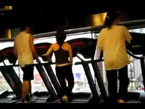 Weird Girl Dancing On Treadmill