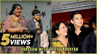 Video Udit Narayan's son, Aditya Narayan sings his father's song | Tabassum Talkies download in MP3, 3GP, MP4, WEBM, AVI, FLV January 2017