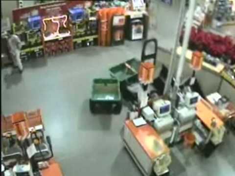 Ram raiders nearly kill shop worker