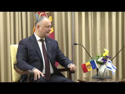 Președintele Republicii Moldova a avut o întrevedere cu Președintele Statului Israel