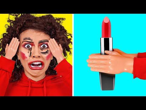 MAŁE RĄSIE PRZEZ 24 GODZINY    NIEUDANE Malowanie Makijażu! Komedia Z 123 GO! CHALLENGE