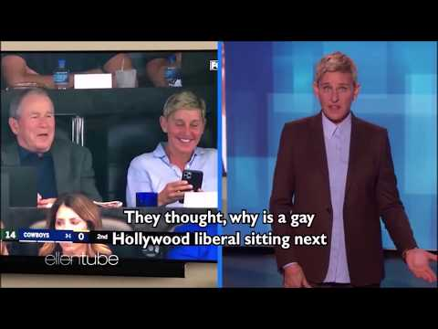 Ellen DeGeneres tries weak attempt to defend friendship with Bush