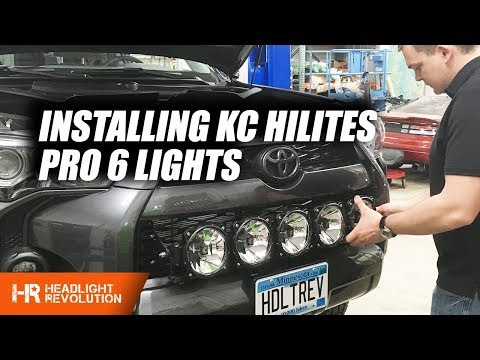 Kc Hilites Pro6 Lightbar Grille Install Toyota 4runner With Rago Fabrication Mounts