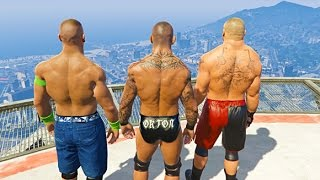 GTA 5 Randy Orton John Cena Compilation #3 (GTA 5 WWE Fails Funny Moments)