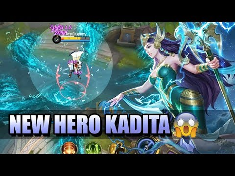 KADITA NEW HERO IN MOBILE LEGENDS 😱 CC IMMUNITY + CROWD CONTROL + DAMAGE