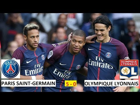 PSG vs Lyon 5-0 All Goals with Short Highlights-2018 HD
