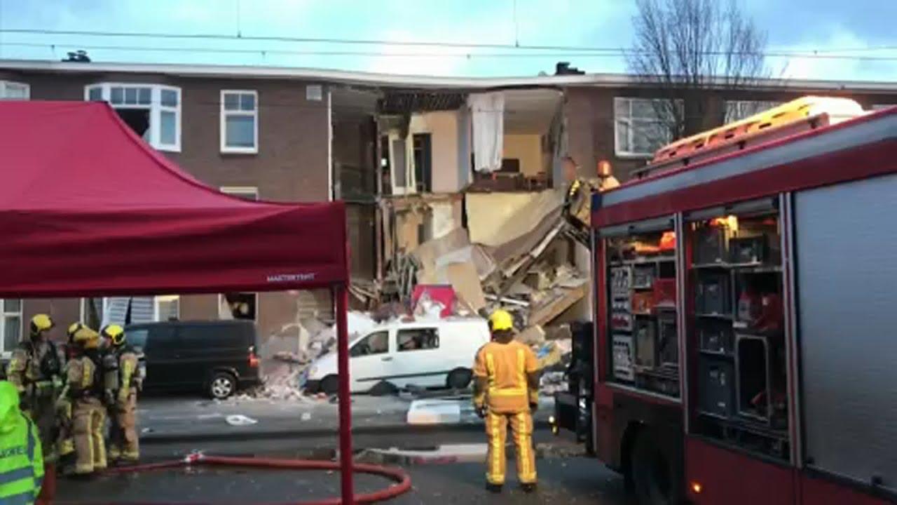 Ισχυρότατη έκρηξη στη Χάγη – Κατέρρευσε κτίριο