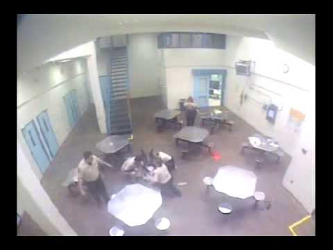 Inmate attacks officer Video 1