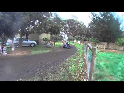 GOCART AND MOTORBIKE DRIFTING MUDDY