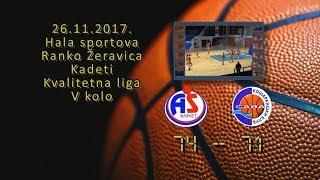 kk as basket kk sava 74 71 (kadeti, 26 11 2017 ) košarkaški klub sava