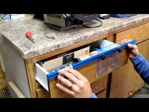 Rockler Deluxe Drawer Pull JIG IT Demo by Glass Impressions