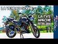 La verdad sobre la TVS Apache RTR 200 en Colombia ¿Es mejor que la Pulsar 200NS?
