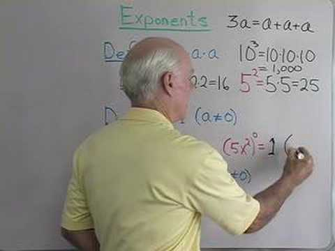 Exponent Definitions Video