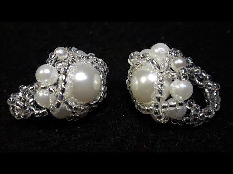 Precioso Anillo de Perlas para Reinas...Clase #54!!!