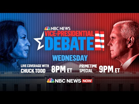 Watch: 2020 Vice Presidential Debate Between Mike Pence, Kamala Harris | NBC News NOW