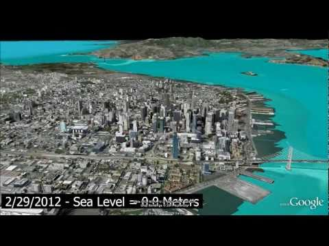 Sea level rise simulation