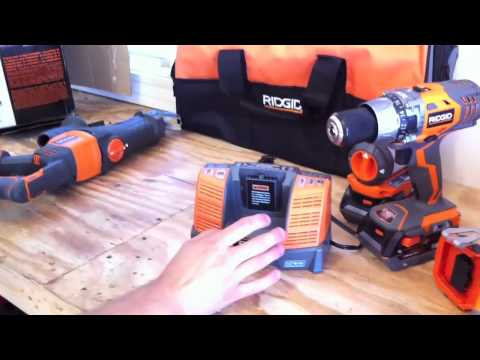 ridgid - RIDGID X4 18V 5 Pc. Combo Kit R9551 For more reviews visit http://www.toolsinaction.com Subscribe it really helps us out! Also follow us on Twitter and Faceb...