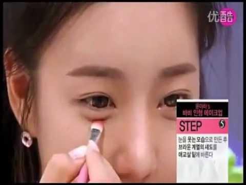 韓國女孩最新化妝技巧-(芭比娃娃妝)-女生必看@@