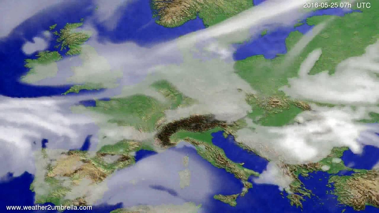 Cloud forecast Europe 2016-05-21