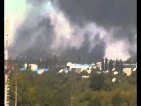Обстрел аэропорта Донецка 14.09.2014