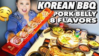 THE BEST KOREAN BBQ PORK BELLY FEAST - MUKBANG 먹방 EATING SHOW!