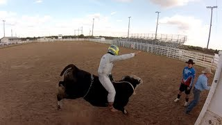 Nico Rosberg season´s greetings 2012: bull riding - Weihnachtsgrüße