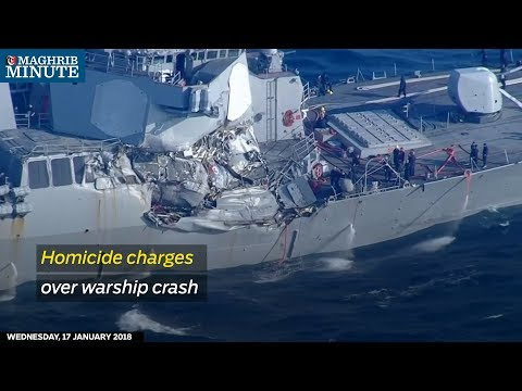 Homicide charges over warship crash