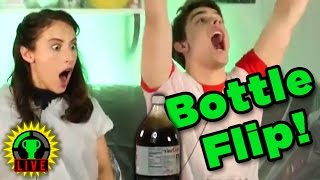 The Ultimate BOTTLE FLIP Challenge!   So Wet and Sticky
