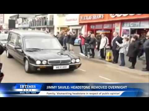 Jimmy Savile: Headstone removed overnight