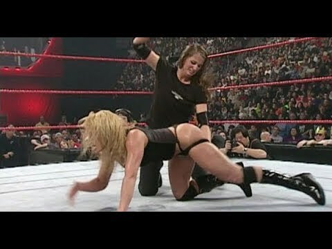 Stephanie Mcmahon and Triple H vs Trish Stratus and Kurt Angle   Most Thrilling Mixed Tag Match