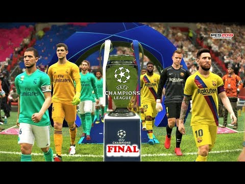 PES 2019 | BARCELONA vs REAL MADRID | FINAL UEFA Champions League