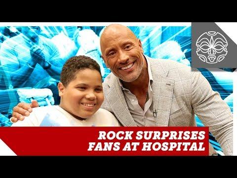 The Rock Surprises Fans at Special Skyscraper Hospital Screening