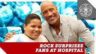 Video The Rock Surprises Fans at Special Skyscraper Hospital Screening MP3, 3GP, MP4, WEBM, AVI, FLV Juli 2018