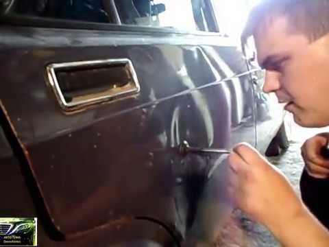 Как выпрямить вмятину на автомобиля своими руками