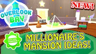 Buying MILLIONAIRE *MEGA* Mansion + Design Ideas! | Overlook Bay (Roblox)
