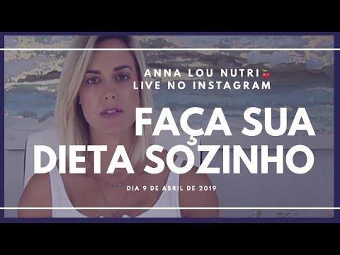 Como cuidar da dieta sem ter nutricionista - live 9 de abril de 2019