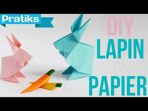 Comment faire un lapin en papier origami