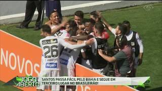Ontem (23), o Santos enfrentou o Bahia no Pacaembu e venceu o tricolor baiano por 3 a 0. O autor dos gols é o atacante Bruno Henrique e, com esse resultado, o Peixe segue na briga pela liderança.