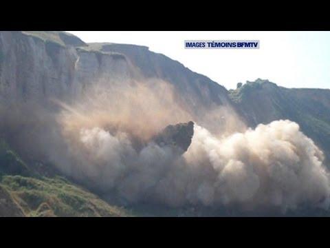 Derrumbe de un acantilado en Francia