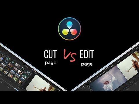 CUT page vs. EDIT page - DaVinci Resolve 16