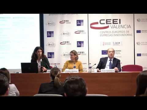 Inmaculada Bea, de IVF, en la jornada explicativa de ayudas y subvenciones de 2020 en CEEI Valencia[;;;][;;;]
