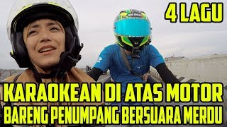 Video Karaokean Diatas Motor Bersama Penumpang Bersuara Merdu  | Bro Omen MP3, 3GP, MP4, WEBM, AVI, FLV April 2019