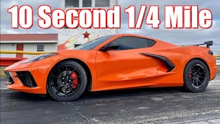 2020 C8 Corvette 10 Second 1/4 Mile! (All Motor + Nitrous results inside IT'S FAST!) by  That Racing Channel