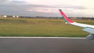 Kisumu Kenya  city photo : Landing at Kisumu Airport on Kenya Airways