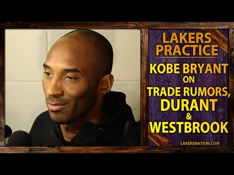 bryant - Kobe Bryant is asked about Lakers trade rumors and whether he's doing any early recruiting for Kevin Durant who becomes a free agent in 2016. Join the Largest Lakers Fan Site in the World...