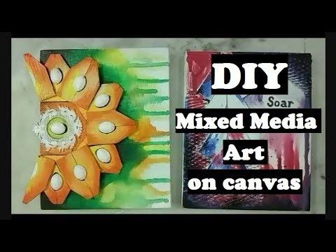 How to make Mixed Media Art Canvas
