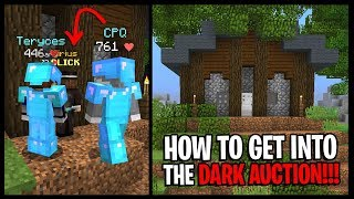 How To Get Into The DARK AUCTION On Hypixel Skyblock... *DARK AUCTION SPAWN TIMES!!!*