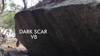 Mount Alexander Bouldering, Dark Scar V8 by Fraser Gust Boulders
