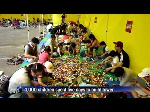 La torre di Lego più alta del mondo